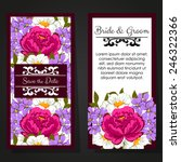 set of invitations with floral... | Shutterstock .eps vector #246322366