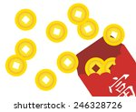 chinese envelope with chinese... | Shutterstock .eps vector #246328726