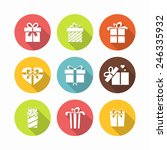 gift box icons   surprise gift... | Shutterstock .eps vector #246335932