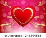 vector heart of a valentine day ... | Shutterstock .eps vector #246344566