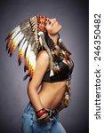 Native American Woman   Indian...