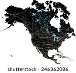 high detailed north america... | Shutterstock .eps vector #246362086