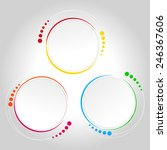 abstract circle template   info ... | Shutterstock .eps vector #246367606