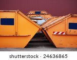 Waste container on a recycling site - stock photo