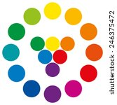 Color Wheel With Circles ...