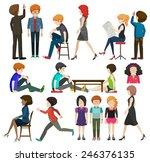 a group of faceless... | Shutterstock .eps vector #246376135