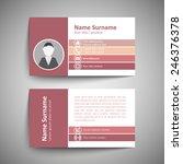 modern simple business card... | Shutterstock .eps vector #246376378
