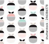 seamless retro pastel fruit... | Shutterstock .eps vector #246386578