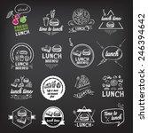 lunch menu  restaurant design. | Shutterstock .eps vector #246394642