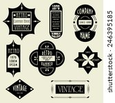 vector set. vintage design... | Shutterstock .eps vector #246395185