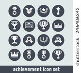 set of simple achievement icons ... | Shutterstock .eps vector #246406342