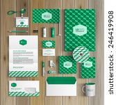 classic green corporate... | Shutterstock .eps vector #246419908