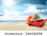 Summer Orange Juice And Towel...