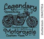 vintage motorcycle typography ... | Shutterstock .eps vector #246427816