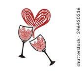glasses heart love vector... | Shutterstock .eps vector #246430216