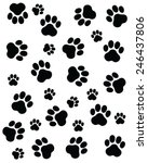 trace of cats  seamless vector... | Shutterstock .eps vector #246437806