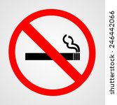 no smoking sign. vector... | Shutterstock .eps vector #246442066