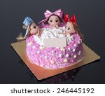 a creative cake with three... | Shutterstock . vector #246445192