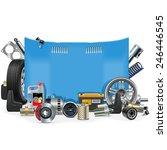 vector car spares frame | Shutterstock .eps vector #246446545
