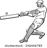 cricket player artwork | Shutterstock .eps vector #246446785