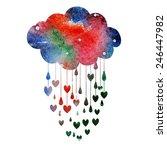 rain of hearts | Shutterstock .eps vector #246447982