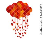 rain of hearts | Shutterstock .eps vector #246448012