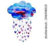 rain of hearts | Shutterstock .eps vector #246448015