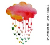 rain of hearts | Shutterstock .eps vector #246448018