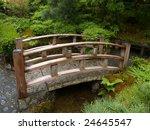 Teak Japanese Garden Moon Bridge
