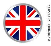 flag button of united kingdom   Shutterstock . vector #246472582