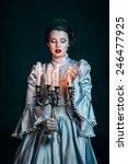 Woman In Victorian Dress...