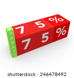 3d render 75 percent off with... | Shutterstock . vector #246478492