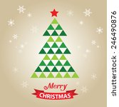 merry christmas card  with... | Shutterstock .eps vector #246490876