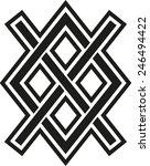 gungnir  odin's spear  rune gar ... | Shutterstock .eps vector #246494422