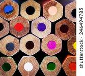 texture of colored pencils... | Shutterstock . vector #246494785