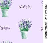 vector watercolor lavender... | Shutterstock .eps vector #246496582