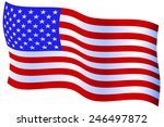 flag of the united states of... | Shutterstock .eps vector #246497872