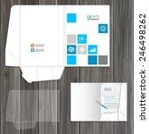 white folder template design... | Shutterstock .eps vector #246498262