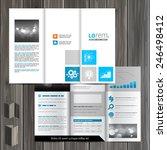 white brochure template design... | Shutterstock .eps vector #246498412