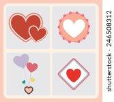 valentines lovely icons set | Shutterstock .eps vector #246508312