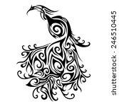logo peacock. patterned design | Shutterstock . vector #246510445