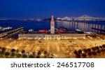san francisco ferry building... | Shutterstock . vector #246517708