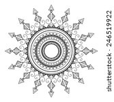 beautiful deco mandala. round... | Shutterstock . vector #246519922