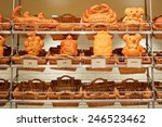 cute sourdough bread bear and... | Shutterstock . vector #246523462