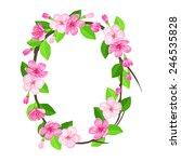 vector letter of blossom apple...   Shutterstock .eps vector #246535828