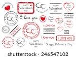 Happy Valentines Day Stamps ...
