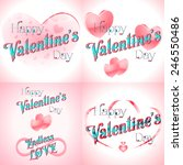 set of  happy valentines day... | Shutterstock .eps vector #246550486