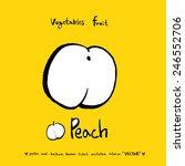 hand drawn food ingredients  ... | Shutterstock .eps vector #246552706