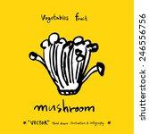 hand drawn food ingredients  ... | Shutterstock .eps vector #246556756