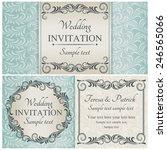 antique baroque wedding... | Shutterstock .eps vector #246565066